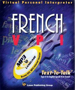 French VPI Virtual Personal Interpreter CD-Rom: Translate, Hear and Speak