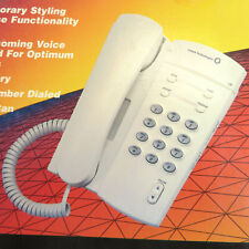 AT&T Table or Wall Corded Telephone - White Design Line 135 NOS Lucent Desk
