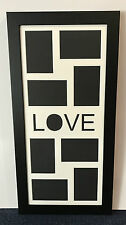 "Large ""Love"" photo picture frame holds eight 6x4 inch photo's"