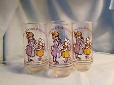 Vintage HOLLY HOBBIE American Greetings GLASSES Lot of 6 (1967 & 1978)