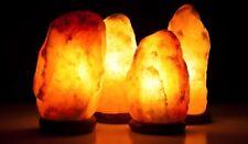 """4 Pieces 6-7"""" Himalayan Salt Lamp Pink Salt Rock Crystal Lamp Air Purifier Reiki"""