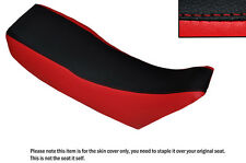 RED & BLACK CUSTOM FITS JAWA 350 TWIN TYPE  DUAL LEATHER SEAT COVER
