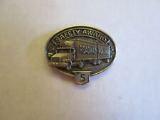 Roadway 5yr Trucking Truck Driver Employee Safety Award Pin