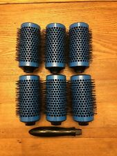 """CLICK N CURL Styling Brush Tool Volume Blowout Curl 6-piece Large 3"""" Rollers"""