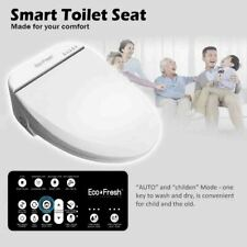 Smart Toilet Seat Electric Bidet Cover Clean Dry Heating Intelligent LCD Remote