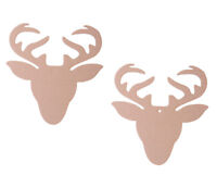 Wooden MDF Stag Deer Head Shapes Reindeer Tags Embellishments Decoration Craft