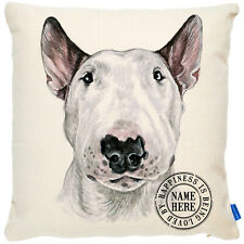 More details for personalised bull terrier cushion cover portrait dog pillow pup gift kdc18