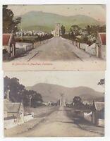 Tasmania 2 x postcards of St John's Church Newtown with 1d pictorials