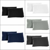 Set of 2 Pillow Case Super Soft Premium 1800 Set Queen (Standard Size) King