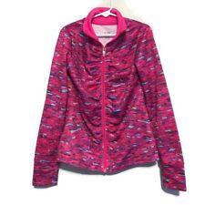 Champion Girls Pink Purple Long Sleeve Athletic Zip Jacket Size Medium M 7-8