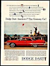 1960 DODGE DART Phoenix Red 4 door Sedan Vintage Car Photo AD