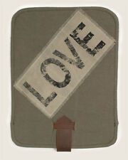 New Vintage stonewashed canvas leather IPAD cover  /LOVE / nice