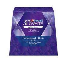 20 Pouches, 40 Strips Crest 3D Whitestrips LUXE Professional Effects Whitening