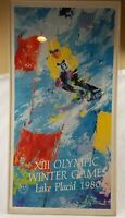 LEROY NEIMAN 1980 Lake Placid Olympics serigraph DOWNHILL SKIER 21 x 39 UNFRAMED