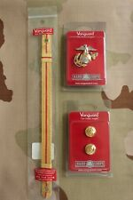 Usmc Us Marine Corps Gold Chin Strap Buttons Badge Set 4 Officer Combination Cap