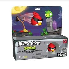 Angry Birds Space Super Red vs Small Minion Pig K'Nex 27 Pc Toy 5+ Build Knex
