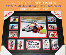 SALE!! CASEY STONER MOTO GP MEMORABILIA SIGNED FRAME, LIMITED EDITION W/ C.O.A