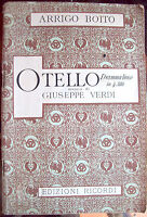 1920 LIBRETTO D'OPERA 'OTELLO' DI ARRIGO BOITO. MUSICA DI GIUSEPPE VERDI