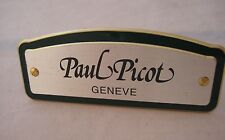 PAUL PICOT GENEVE WATCH DEALER OFFICIAL METALLIC SIGN DISPLAY GREAT COLLECTIBLE
