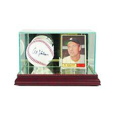 *NEW Single Baseball & Card Glass Display Case MLB NCAA Free Shipping Made in US