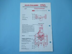 Allis Chalmers D21 D-21 series II 220 tractor lubrication guide chart