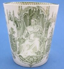 Queen Victoria 1897 Royal Doulton Diamond Jubilee Throne Beaker