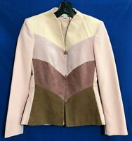VTG ADOLPH SCHUMAN For LILLI ANN Lined Dressy ULTRA SUEDE Blazer/Jacket Pinks S