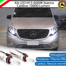 KIT FULL LED H15 MERCEDES VITO W477 CANBUS NO AVARIA LUCI 6000K BIANCO