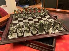 "Danbury Mint ""Fantasy of the Crystal"" Chess Set"
