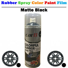 5X Matte Black Car Rubber Spray Color Paint Film Coat Wheel Rim Plasti Dip