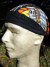 Native American Indian Biker Bandanna Head Wrap Sweatband Durag Free Shipping