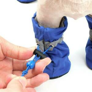 4pcs Pet  Boots Puppy Denim Sports Anti-slip Shoes Sneakers For Small Dogs Cat