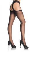 Sheer Black Over Knee Sexy Thigh High Stockings Pantyhose Suspender Garter Belt