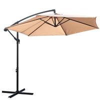 BALI OUTDOORS Patio Umbrella Offset Umbrella Tilt Adjustment Polyester Parasol