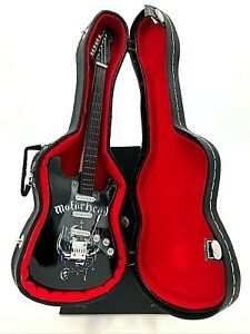 Miniature Fender Stratocaster Guitar - Motorhead - (Includes Hard Case)