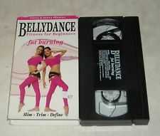 VHS TAPE in SLEEVE - BELLYDANCE FITNESS for BEGINNERS FAT BURNING EXERCISE VIDEO