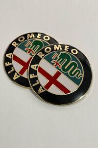 2x Alfa Romeo Rear Boot Front Bonnet Mito Giulietta Emblem Badge GT147 156 159