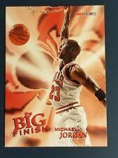 1996 Hoops Michael Jordan Bulls #176 The Big Finish Basketball NBA
