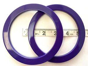 Pair (2) of Circular Shaped Bag Handles for Knitting or Sewing (Purple)