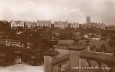 Greenhead Park Huddersfield  RP old pc  used 1938