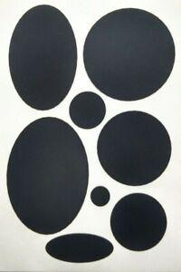 x8 Black - self adhesive repair patch - Down puffer jacket / gilet coat UK