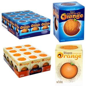 Terry's Chocolate Orange Ball White Chocolate Milk Chocolate Orange Mix 1-12 Pcs