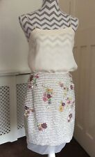 TopShop Limited Edition Yellow Floral Embroidered Sequin Skirt, UK Size 10 New