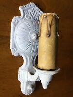 Vintage Art Deco Single Bulb Sconce Wall Light Fixture Cast Metal Ornate