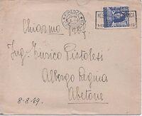 ITALIA 1949 20L LORENZO IL MAGNIFICO ISOLATO SU LETTERA DA FIRENZE PER ABETTONE