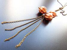 Bronze Modeschmuck-Halsketten & -Anhänger mit Perle für Damen