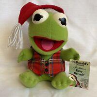 Baby Kermit Plush Jim Henson's 1988 Ronald McDonald's Muppet Babies Toy Vintage