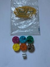 Trivial Pursuit Replacement Pieces Bag And Die Genus Edition INCOMPLETE