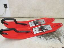 04 SKI DOO MXZ 800 HO USI X2 TRIPLE THREAT SKIS PLASTIC RED POLARIS CAT REV 0546