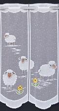 Schäfchen Scheibengardine Kindergardine 1 Stück von 29 cm Bistrogardine Schafe